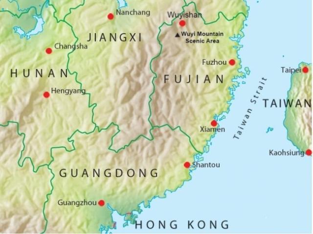Fujian, Wuyi hegy