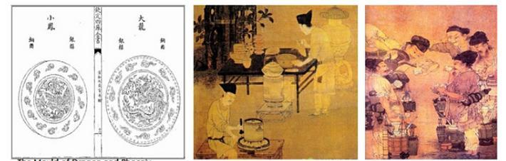 A Wiyu tea préselése a Song korban