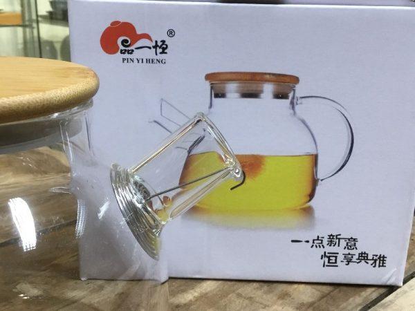 üveg teáskanna, rugós 2
